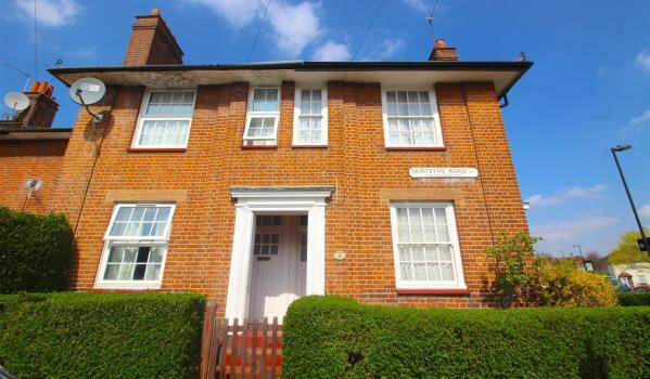 Two-bedroom end of terrace house sits in the Tower Gardens estate