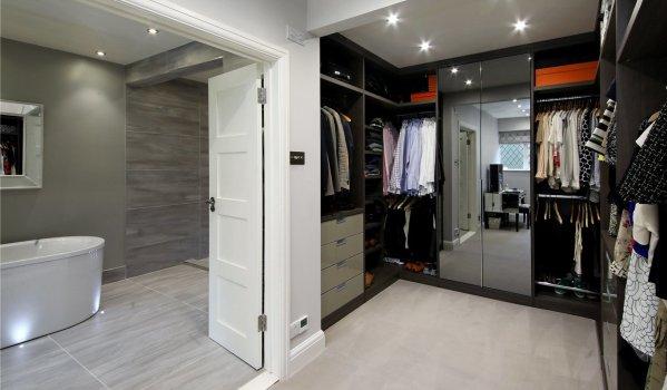 Walk-in wardrobe in a six-bedroom detached house in Seer Green