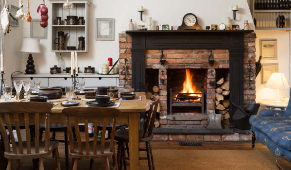 Can You Picture Yourself Tucking Into Christmas Dinner Next To This Roaring Feature Fireplace In Charming Barn Conversion The Open Plan Kitchen And
