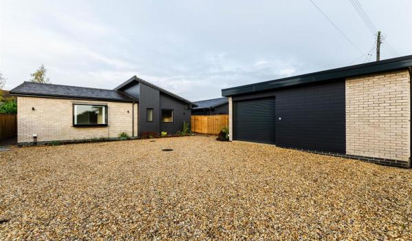 New build three-bedroom detached bungalow in Norwich