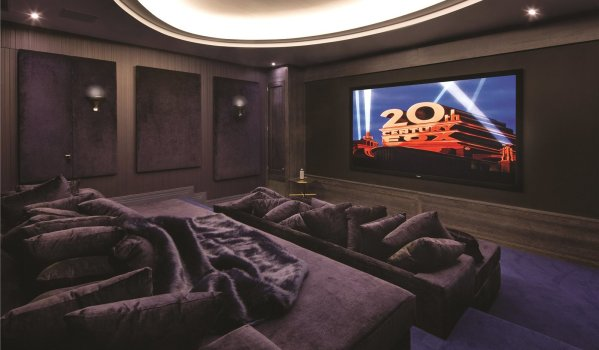 Home cinema room in 11-bedroom detached house in East Finchley