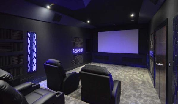 Home cinema room in a four-bedroom detached house in Kingswood