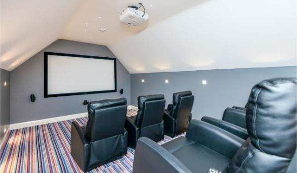Home cinema room in a five-bedroom detached house in Brewood