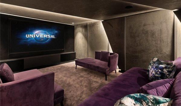 Home cinema room in a five-bedroom detached house in Knightsbridge