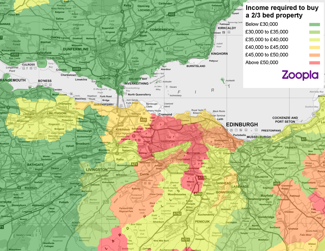 Map of affordable housing in Edinburgh
