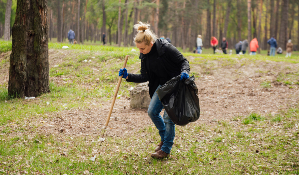 Community litter picks are helping reduce the amount of discarded household waste