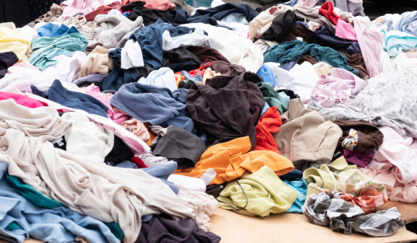 A free trial service has been launched by Three Rivers to cut down on the amount of textiles ending up in landfill like this
