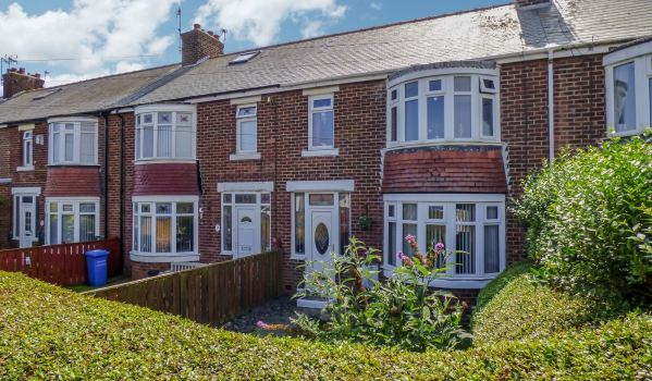 Terraced house up for auction