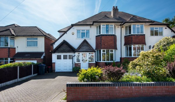 Suburban semi detached house