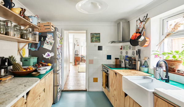 Kitchen in a Victorian terrace