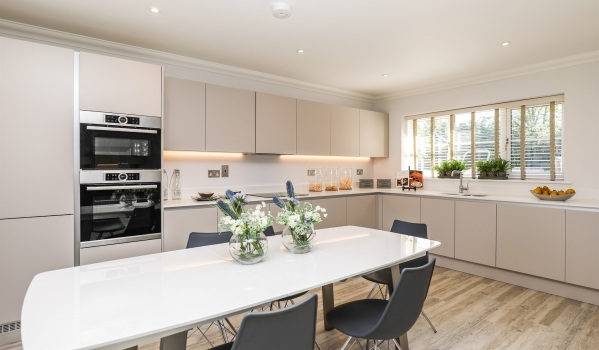 Modern kitchen in a new-build home
