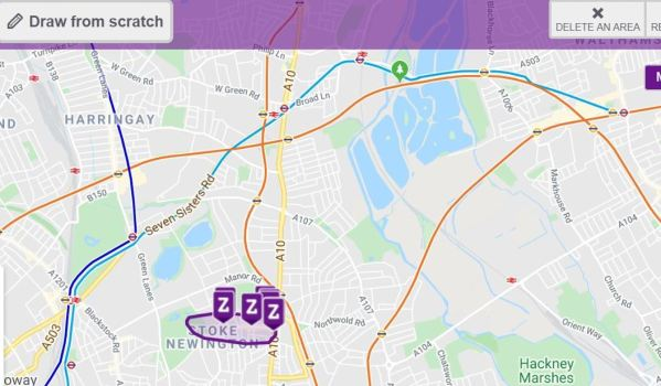 Zoopla draw from scratch SmartMaps tool