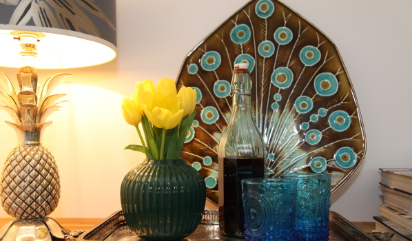 Curated possessions in a home staged property