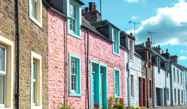 Tax changes for landlords 2020-2021: Row of terraced houses