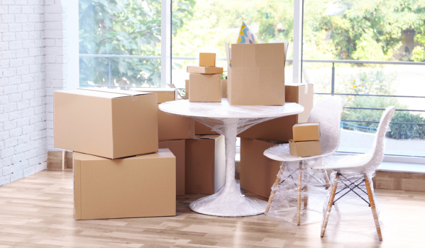 Boxes and furniture for moving